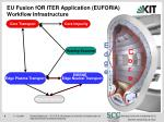 eu fusion for iter application euforia workflow infrastructure
