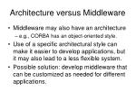 architecture versus middleware1