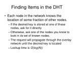 finding items in the dht