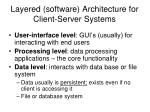 layered software architecture for client server systems