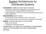 system architectures for distributed systems