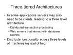 three tiered architectures