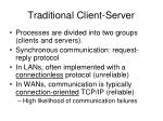 traditional client server