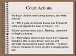 court actions