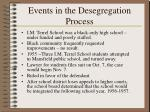 events in the desegregation process
