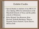 exhibit credits