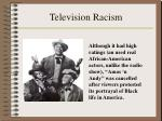 television racism