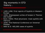 big moments in std history