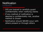 notification confidentiality
