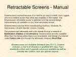 retractable screens manual