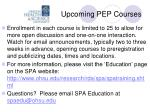 upcoming pep courses2