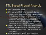 ttl based firewall analysis