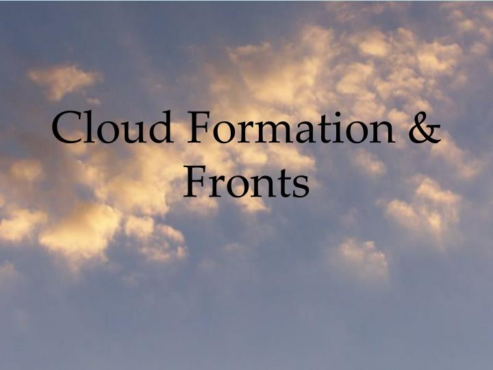 cloud formation fronts n.