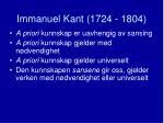 immanuel kant 1724 18041