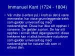 immanuel kant 1724 18042