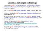 literatura dotycz ca metodologii