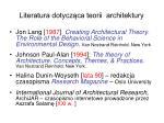 literatura dotycz ca teorii architektury