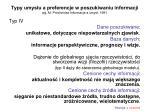 typy umys u a preferencje w poszukiwaniu informacji wg m pr chnicka informacja a umys 19913