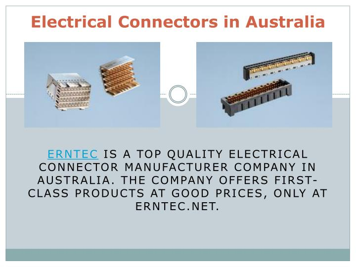 electrical connectors in australia n.