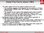 some fun facts about cms1