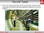 the lhc tunnel