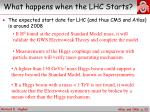 what happens when the lhc starts