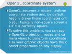 opengl coordinate system