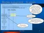 machine management by groups