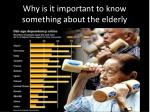why is it important to know something about the elderly