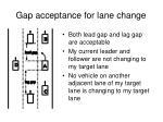 gap acceptance for lane change