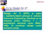co je design for x