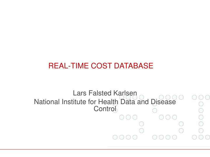 real time cost database n.