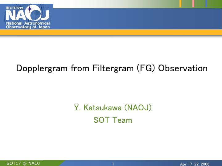 dopplergram from filtergram fg observation n.