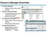 resource manager essentials