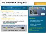 time based poe using eem