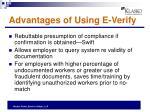advantages of using e verify