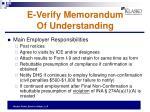 e verify memorandum of understanding
