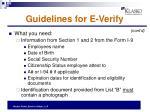 guidelines for e verify