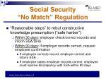 social security no match regulation