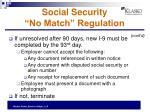 social security no match regulation1