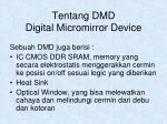 tentang dmd digital micromirror device1