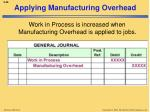 applying manufacturing overhead1