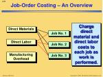 job order costing an overview