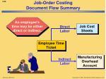 job order costing document flow summary2
