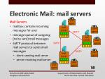 electronic mail mail servers