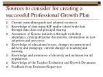 sources to consider for creating a successful professional growth plan