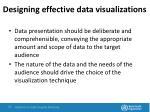 designing effective data visualizations