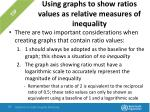 using graphs to show ratios values as relative measures of inequality