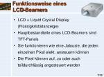 funktionsweise eines lcd beamers