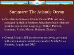 summary the atlantic ocean